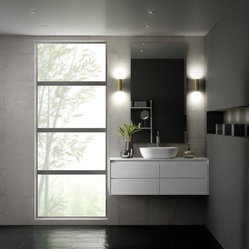 Modern picture windows for bathroom