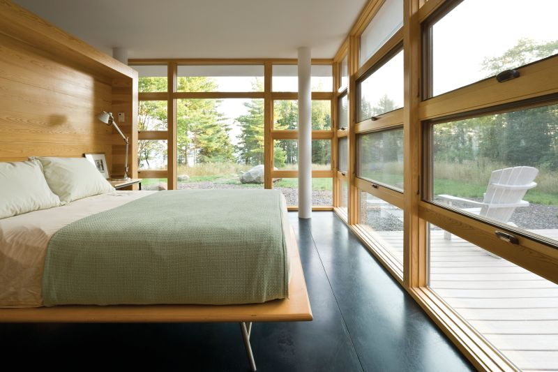 Modern picture windows for bedroom