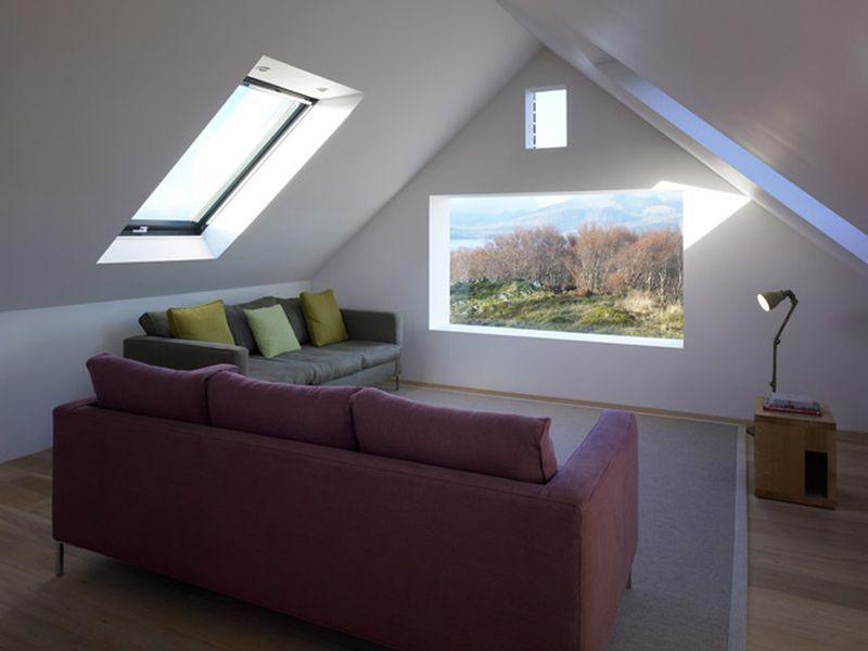 Modern skylight windows design for living room