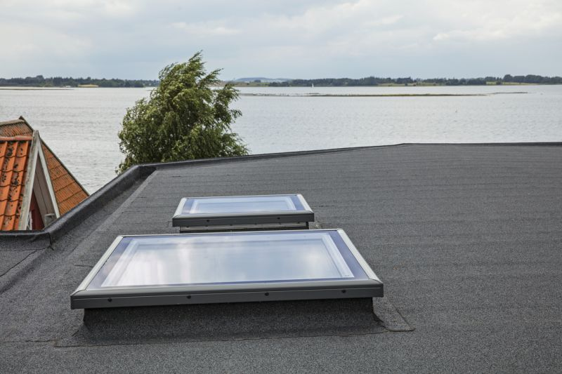 Modern skylight windows for flat roof