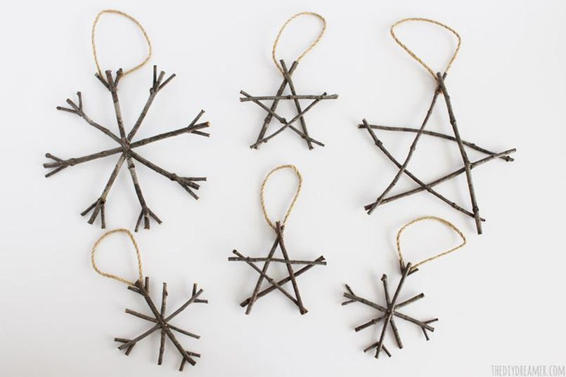 wooden twig Christmas Tree Ornament
