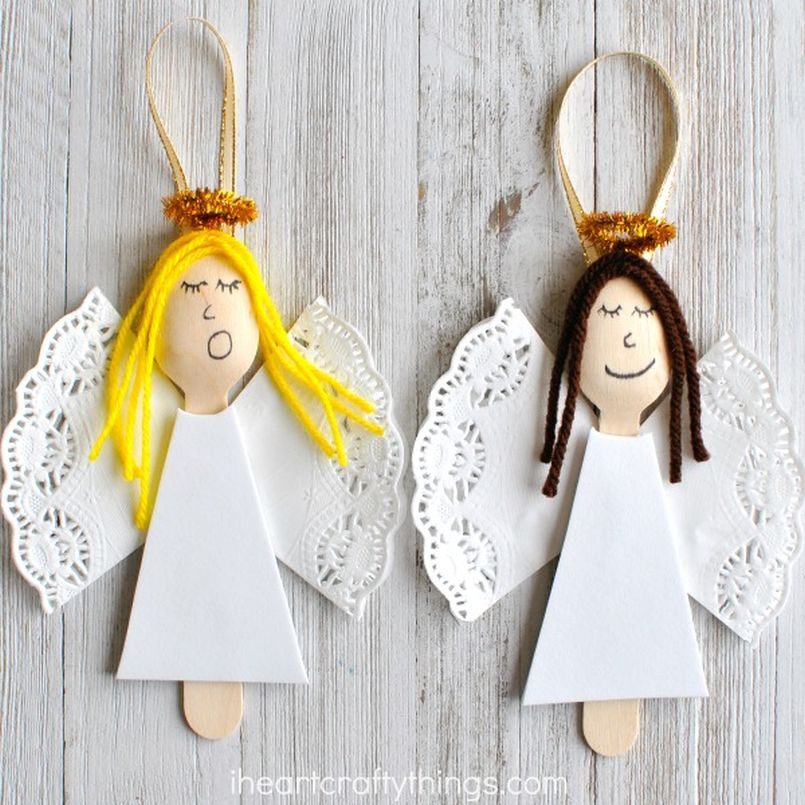 DIY Spoon Angel Ornaments
