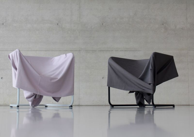 2018 one-knot fabric chair by Zohair Zouirech