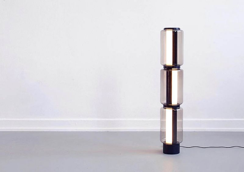 Baschnja three-part light fixture by Ilja Hubert