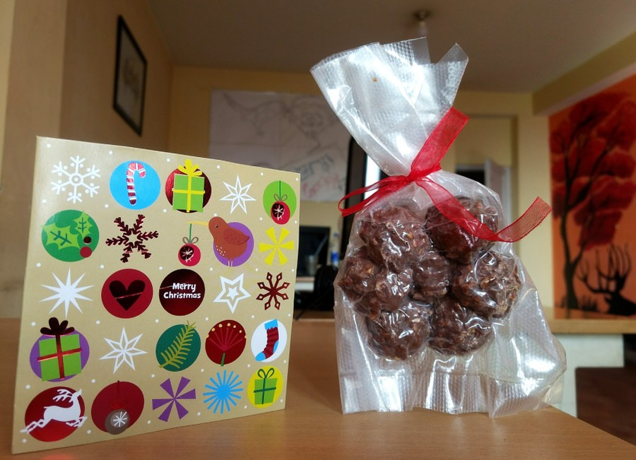 Chocolate and Christmas Greeting Card by Giapo Kitchen NZ