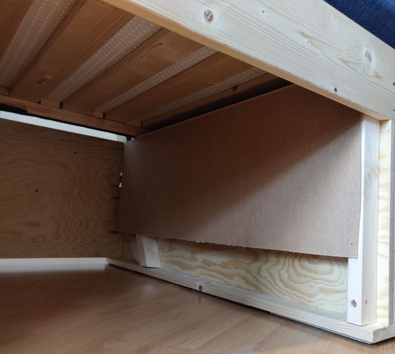 DIY Convertible Sofa Bed with Storage
