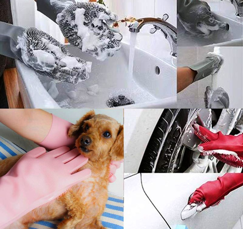 Dishwashing Scrubber Gloves for Washing Dishes