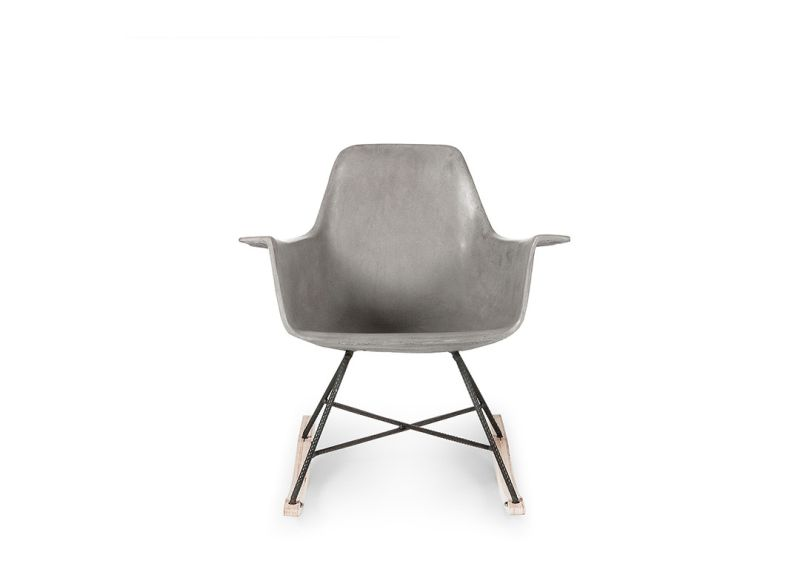 Hauteville Concrete Rocking Chair by Lyon Béton