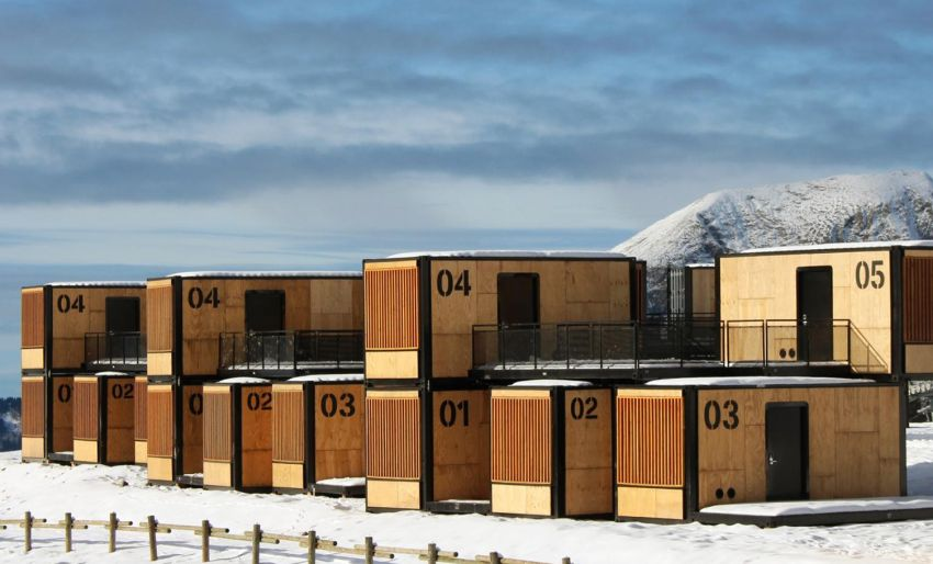 Flying Nest Mobile Shipping Container Hotel In French Alps