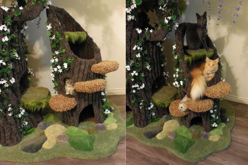 Realistic Cat Tree By The Hollywood Kitty Company