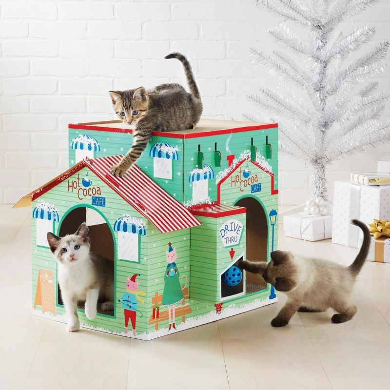 Target's is Selling Holiday-Themed Cat Scratchers