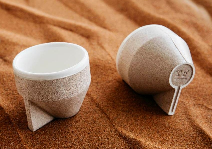 The Foundry Makes Ramel Coffee Cups from Sand