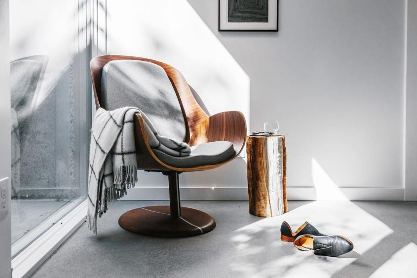 Upholstered Bentwood Lounge Chair from q co