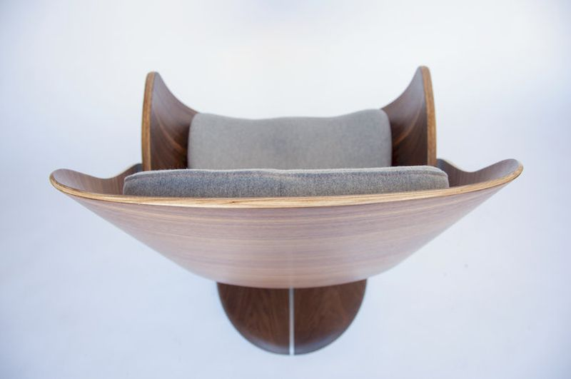 Upholstered Bentwood Lounge Chair from q co_11