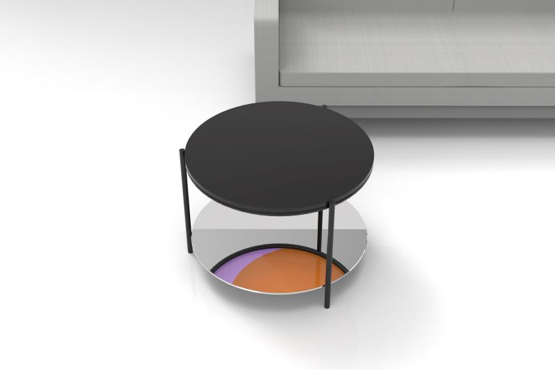 Upside Down stereotypical-looking side table by Felicia Schneeweis