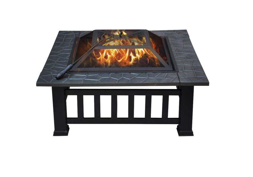 Yaheetech 32 Outdoor Wood Burning Firepit