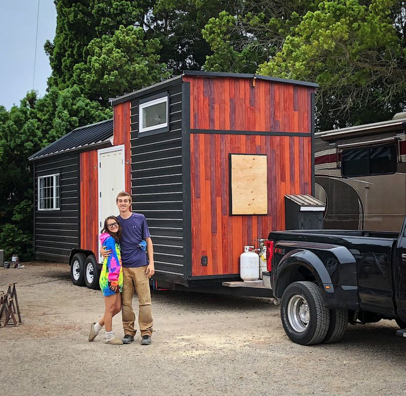 Young Couple builds Tiny house to Afford College
