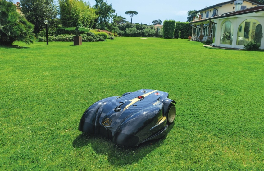Smartphone controlled lawn mower