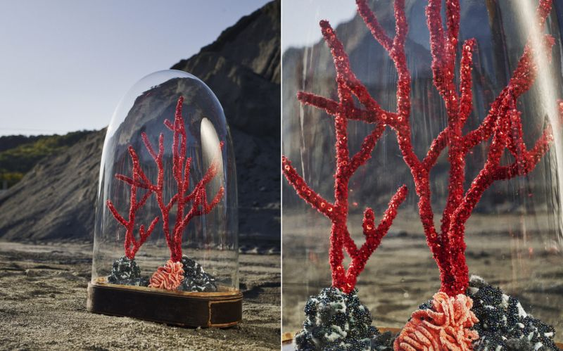 Aude Bourgine's Coral Reef Sculptures Made from Textile and Beads