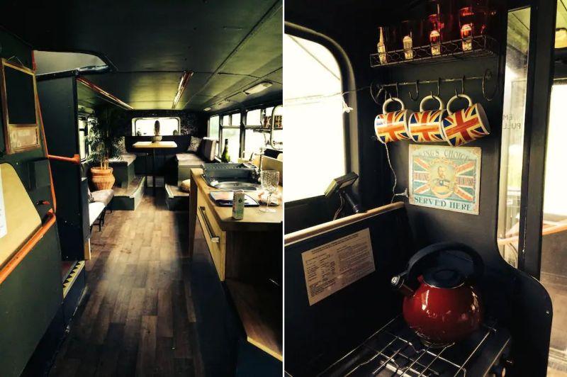Bertie Double-Decker Bus Home in Sturminster Marshall Village, England
