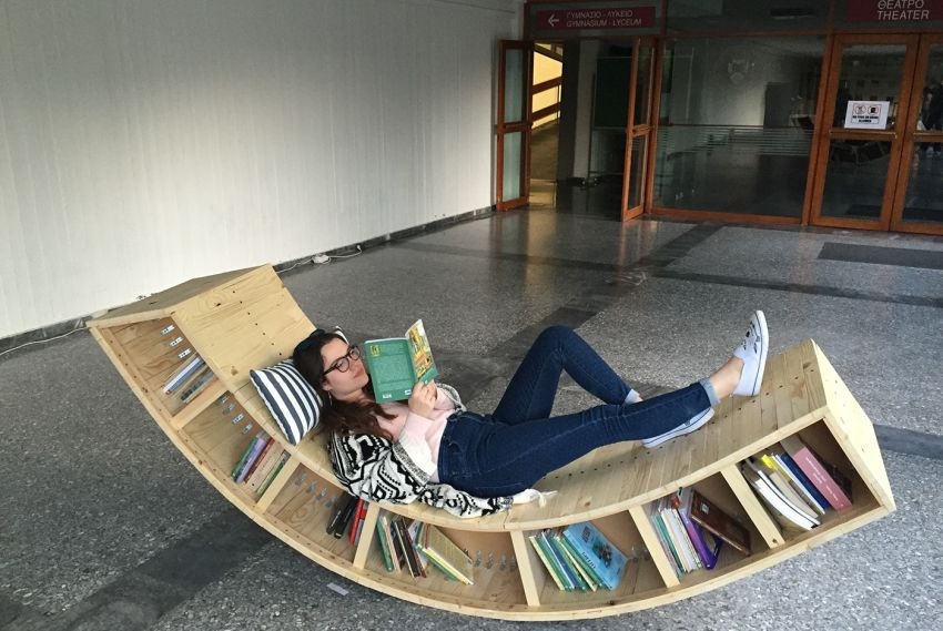 DIY Bookshelf Lounge Chair by Sofia Alexiou