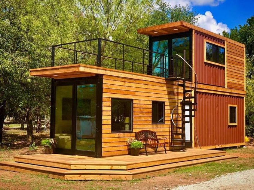 Helm Tiny Shipping Container Home By Cargohome Has Rooftop