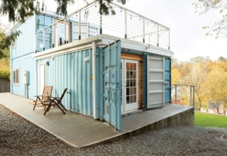 Julianna Carlson's Two-Story Shipping Container Home