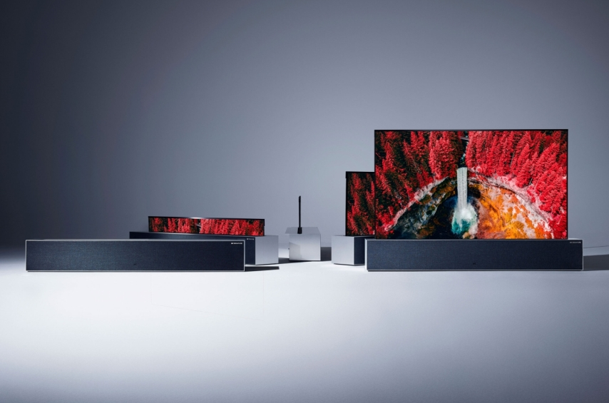 LG Signature OLED TV R - LG Rollable TV at CES 2019