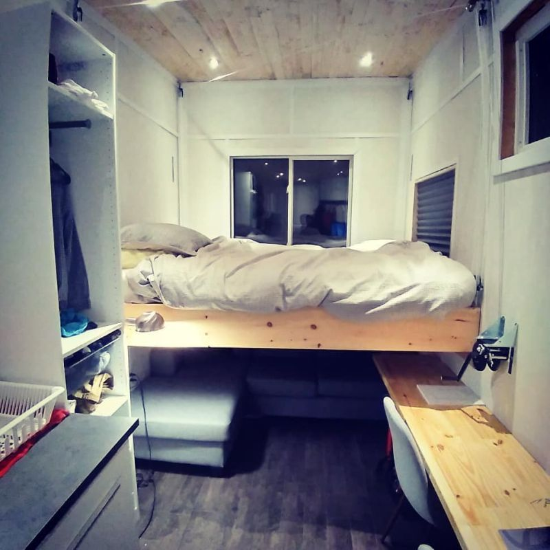 Budget-Friendly Tiny House with Radiant Heated-Ceiling