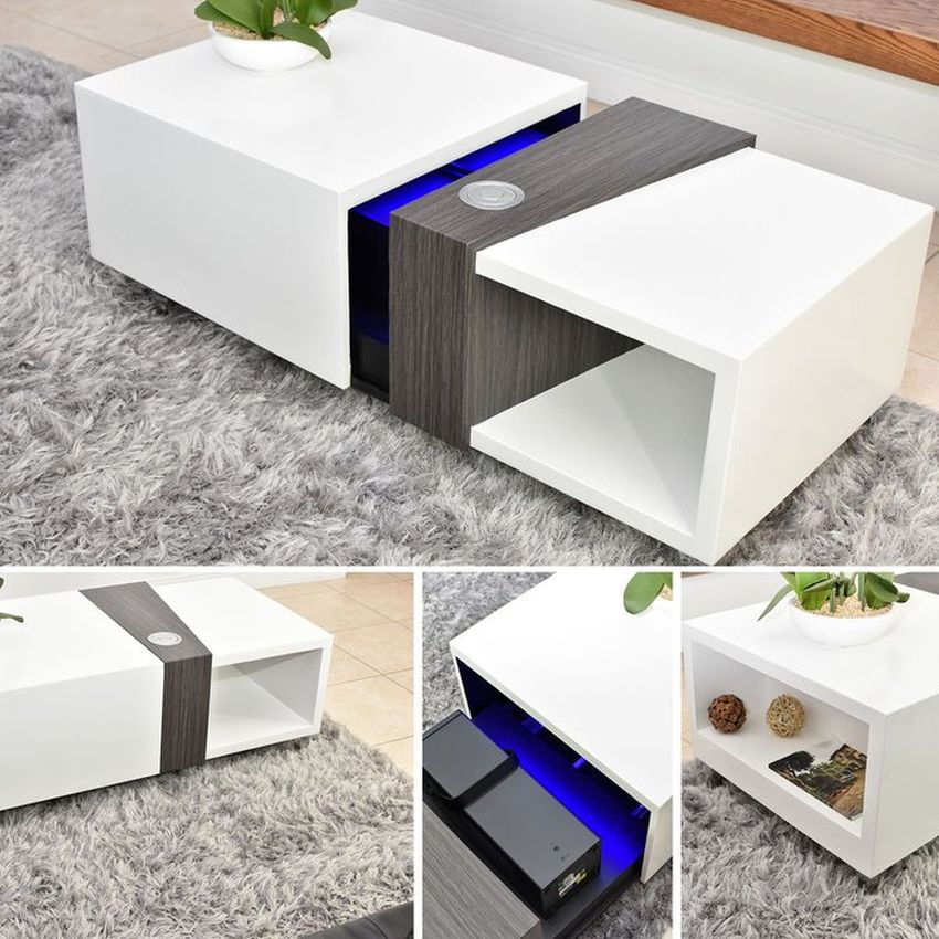 Diy Motorized Coffee Table Conceals 4k Lg Projector