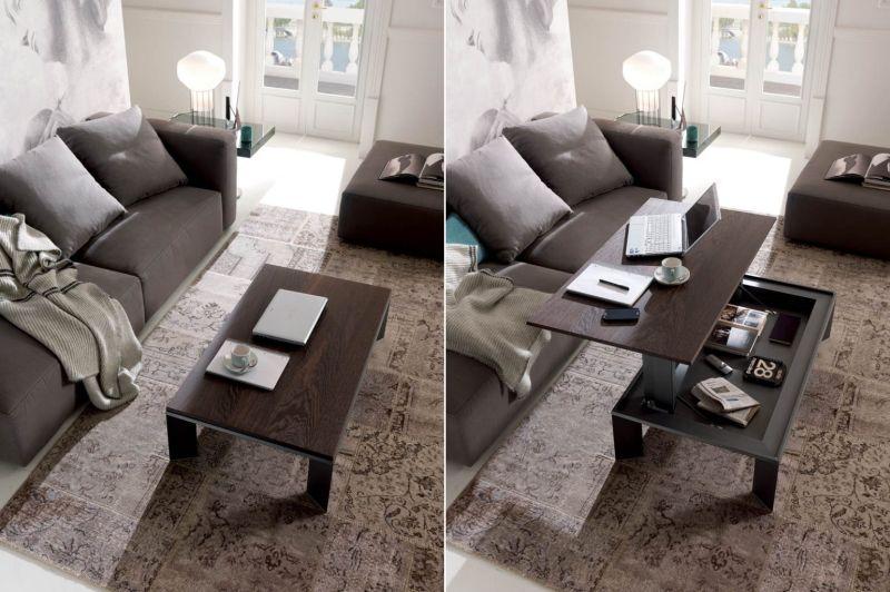 Ozzio Italia's Metrina Height-Adjustable Coffee Table