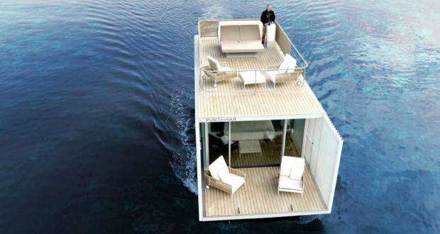 Punta de Mar Houseboat: Innovative Concept for Floating Hotel