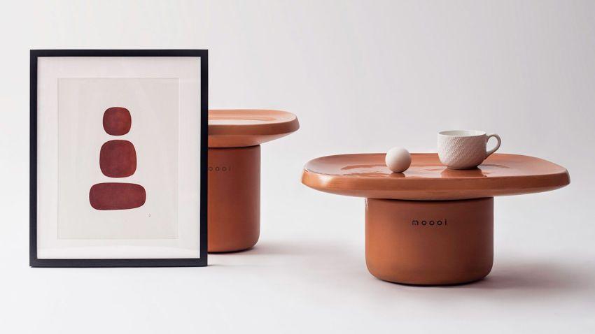 Simone Bonnan Designs Obon Terracotta Tables for Moooi