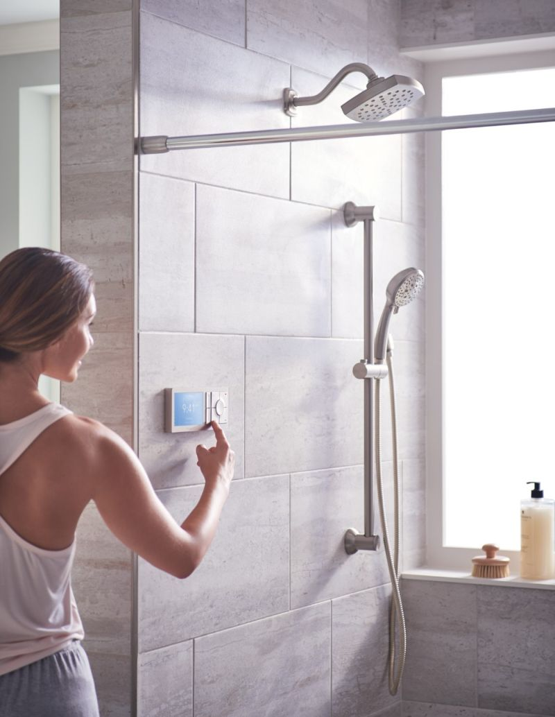 U by Moen Smart Shower Works with Amazon Alexa, Google Assistant and Siri