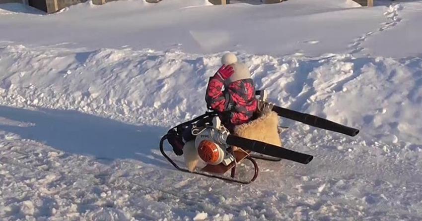 leaf-blower-powered-sled-1