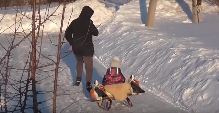 leaf-blower-powered-sled