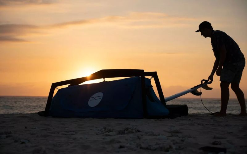Boardswag Surfboard Bag Doubles as Camping Tent