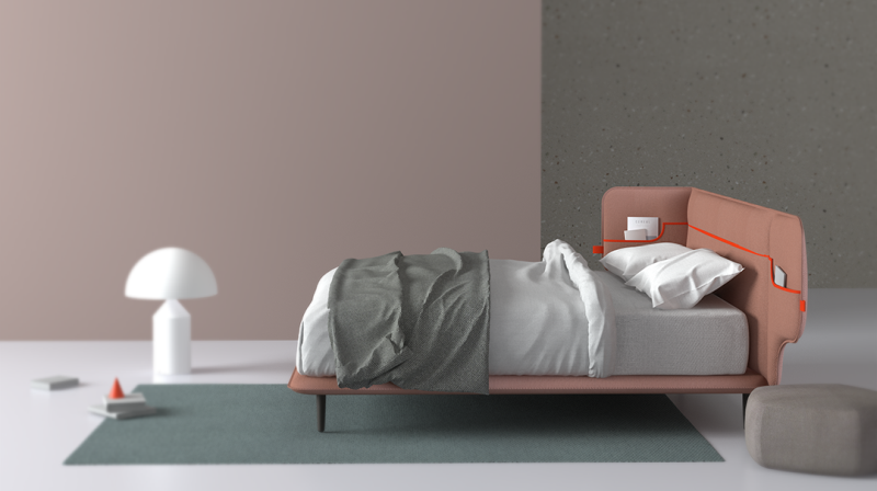 Cuddle Bed by Weichih Chen & Fuhua Wang for Elite Spa