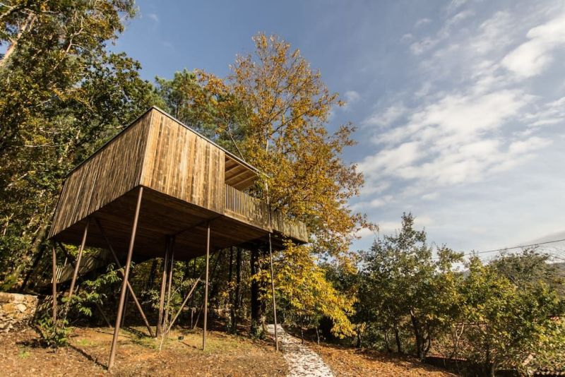 Rent This Cantilevered Treehouse Cabin in Outes, Spain at Airbnb