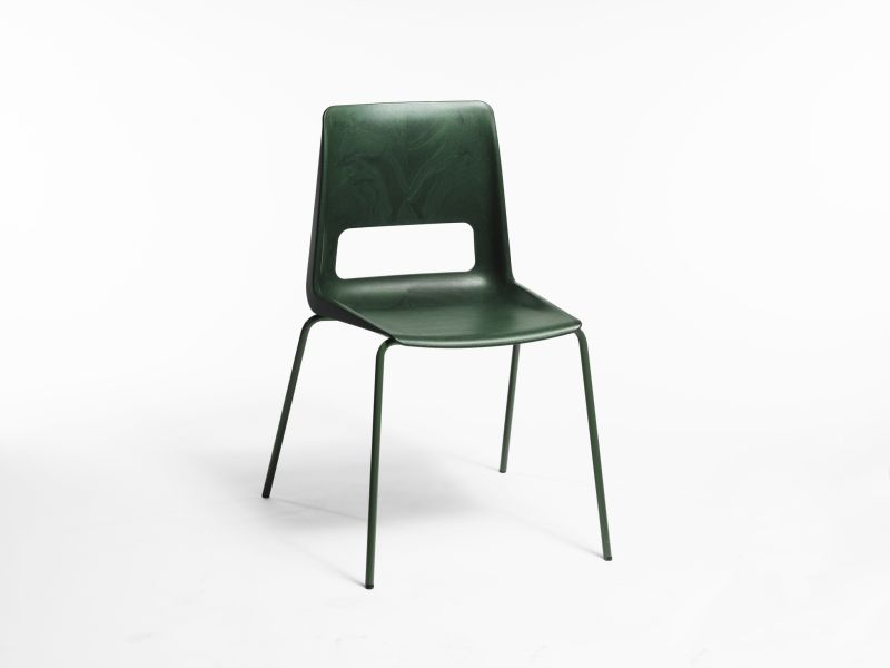 Snøhetta Makes S-1500 Chair Out of Recycled Plastic and Steel
