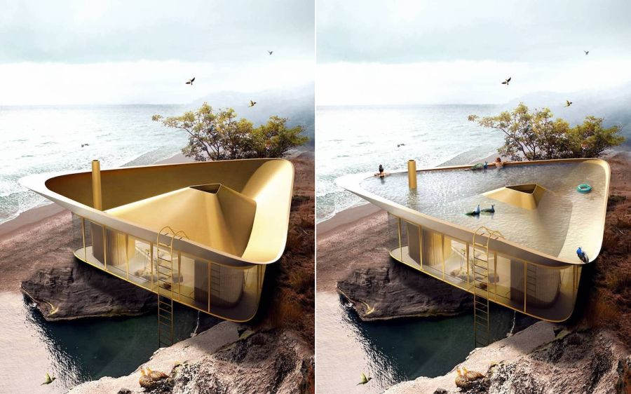 Beach house, waterfront home, waterfront architecture
