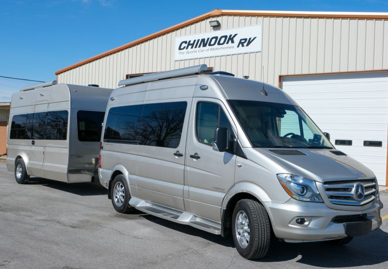 Chinook's Trail Wagon Trailers Feature App-Controlled Ceiling Bed