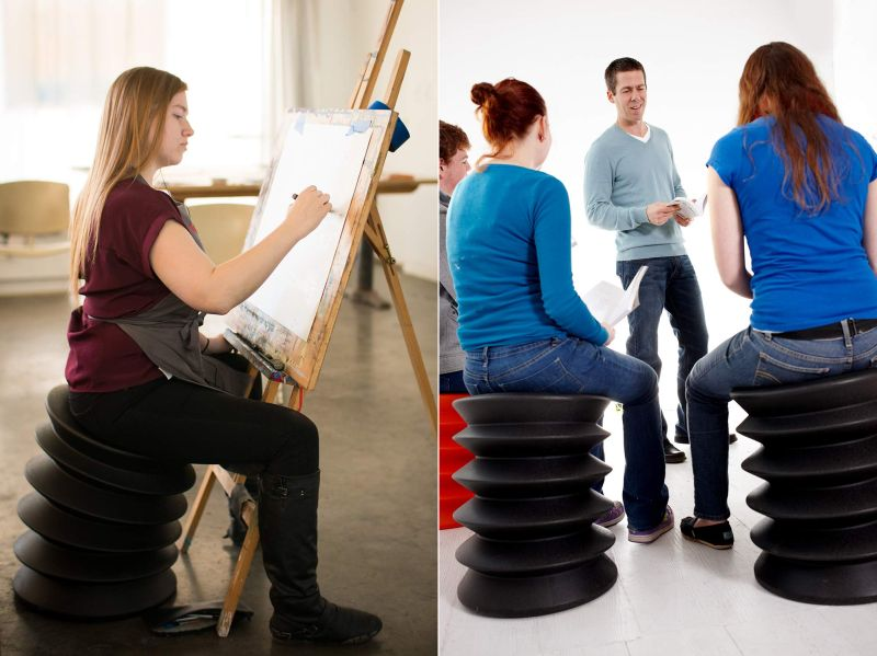 ErgoErgo Active Stool Encourages Your Body to Stay Alert