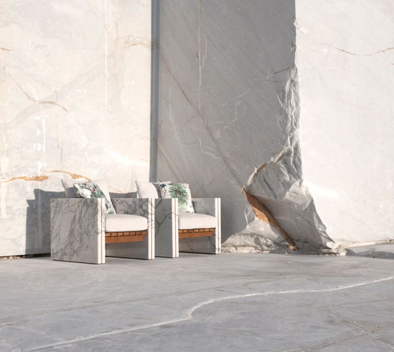 Franchi Umberto Marmi's Marble Outdoor Furniture Collections at Salone 2019