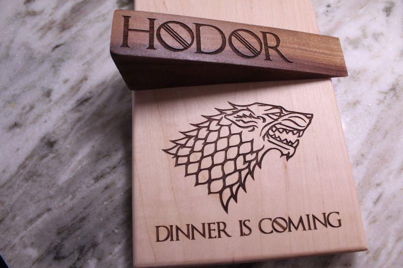 Hodor-Inspired Doorstop by Naked Wooden Works