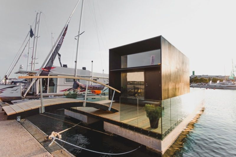 Kodasema's Tiny Prefab House can be Installed on Floating Pontoon
