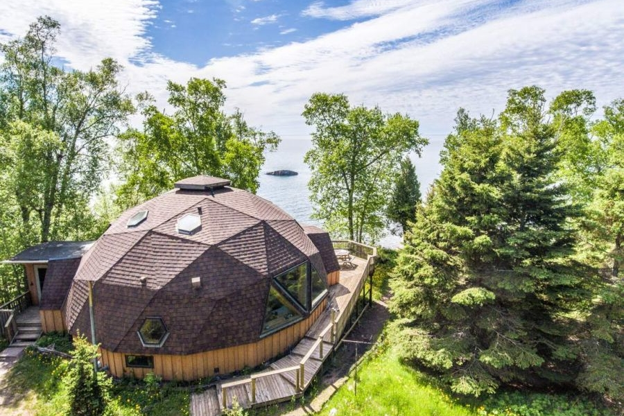 Lakefront Geodesic Dome Home for Sale in Minnesota
