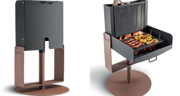 Palazzetti's Twist Barbecue Rotates 360-Degree for Maximum Convenience