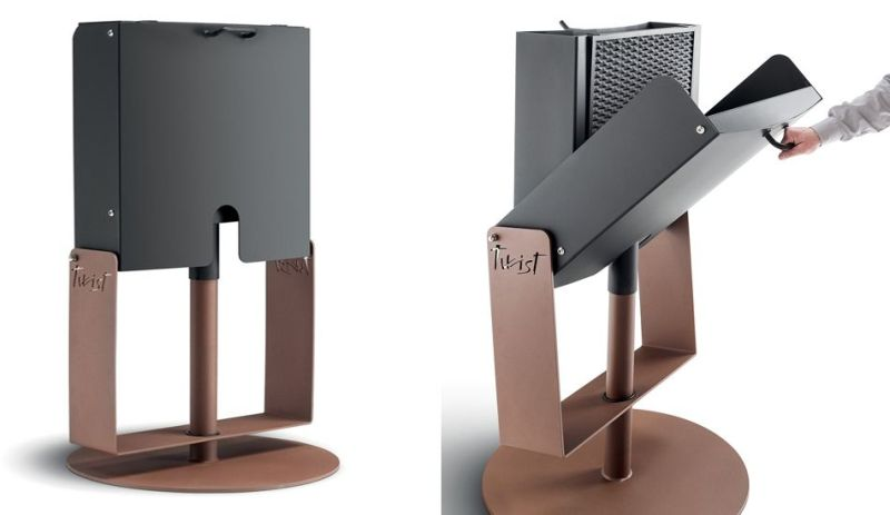 Palazzetti's Twist Barbecue Rotates 360-Degree for Maximum Convenience