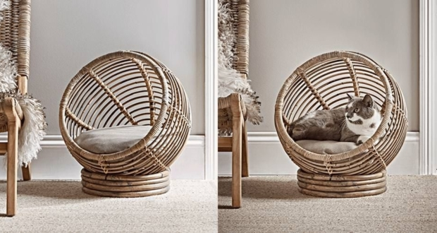 Rattan Cat Cocoon by Cox & Cox